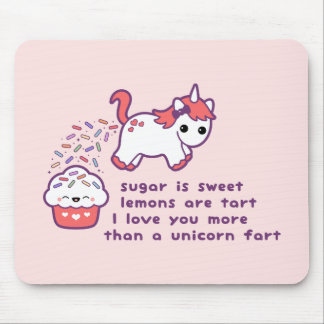 Cute Unicorn Fart Mouse Mat