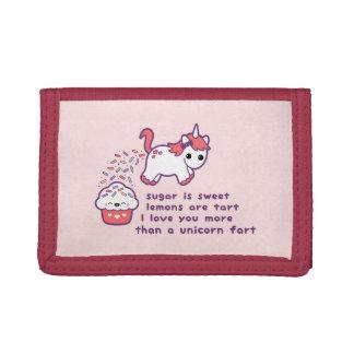 Cute Unicorn Fart Tri-fold Wallets