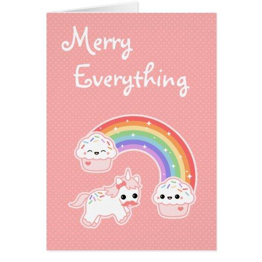 Cute Unicorn Holiday Card