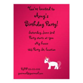 Cute unicorn personalized invite