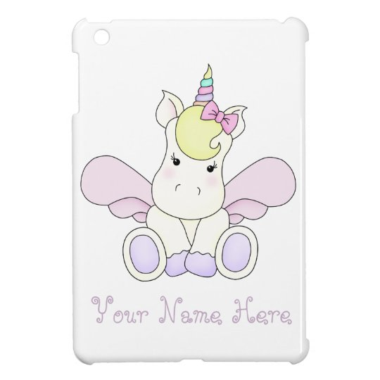 Cute Unicorn iPad mini case cover personalised