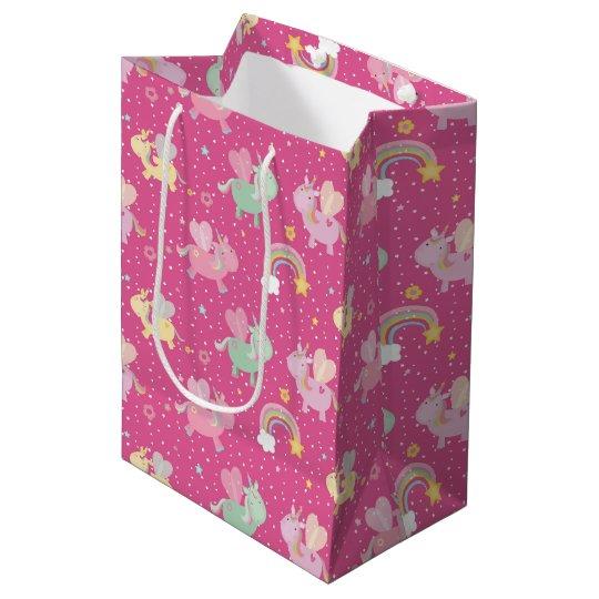 Cute unicorn medium gift bag