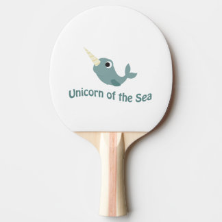 Cute Unicorn Of the Sea Ping Pong Paddle