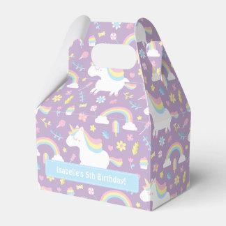 Cute Unicorn Pattern Birthday Party Favor Box Wedding Favour Box