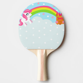 cute unicorn Ping Pong Paddle