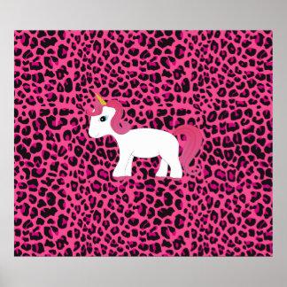 Cute unicorn pink leopard print