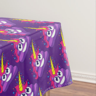 Cute Unicorn Poop Emoji Tablecloth