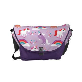Cute Unicorn Rainbow Purple Courier Bag