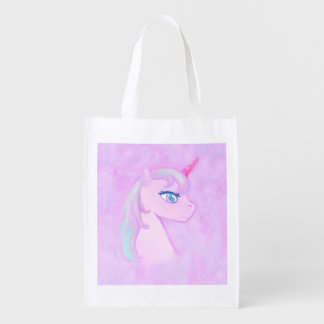 cute unicorn Reusable Grocery Bag