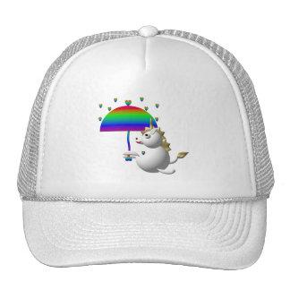 Cute unicorn with an umbrella cap