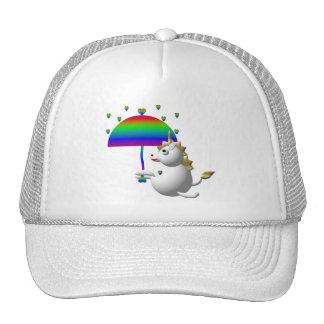 Cute unicorn with an umbrella hat