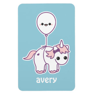 Cute Unicorn with Balloon Magnet