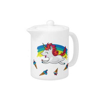 Cute Unicorn with rainbow cool illustration