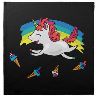 Cute Unicorn with rainbow cool illustration Napkin