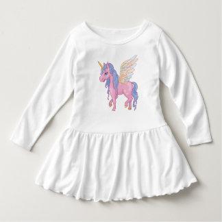 Cute Unicorn with rainbow wings illustration Dress