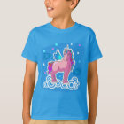 Cute Unicorn with rainbow wings illustration T-Shirt