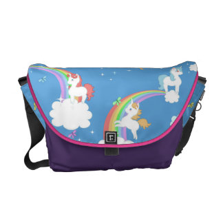 Cute Unicorns and Rainbows Commuter Bag