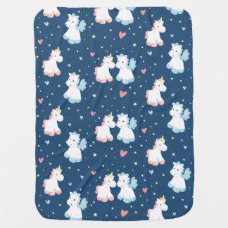 Cute Unicorns in Love Baby Blanket