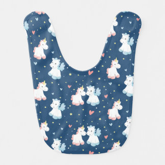Cute Unicorns in Love Bib