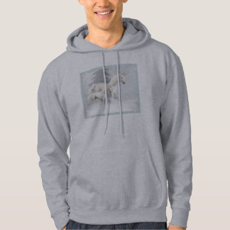 Cute Unicorns In Snow 1 Hoodie