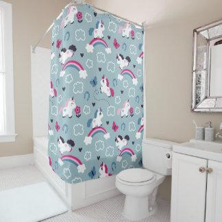 Cute Unicorns Pattern Shower Curtain