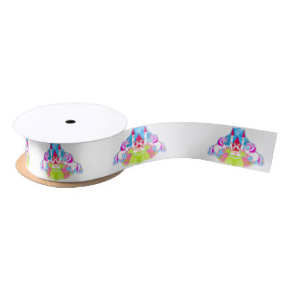 cute unicorns Ribbon Satin Ribbon