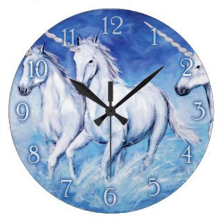 cute unicorns wall clock