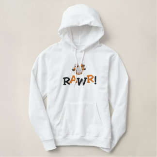 Cute Upside Down Baby Tiger RAWR! Embroidered Hoodie