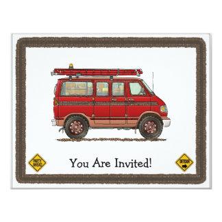 "Cute Utility Pickup 4.25"" X 5.5"" Invitation Card"