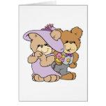 cute valentine date teddy bear couple greeting card