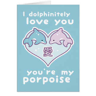 Cute Valentine Dolphins Card