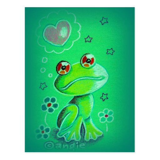Cute Valentine Love Frog Post Cards