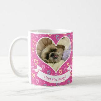 Cute Valentine Love Hearts / Heart Photo Frames Coffee Mug