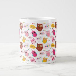 Cute Valentine Owls Large Coffee Mug