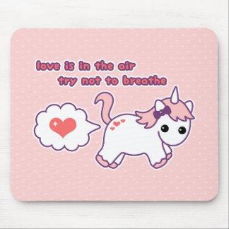 Cute Valentine Unicorn Mouse Mat