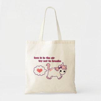 Cute Valentine Unicorn Tote Bag