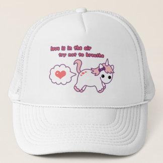 Cute Valentine Unicorn Trucker Hat