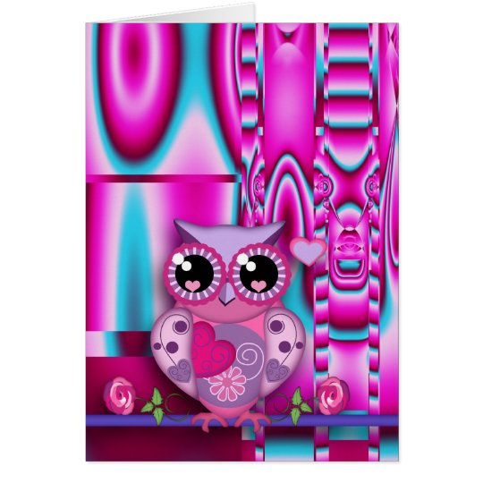 Cute Valentine's card with Love Owl & text