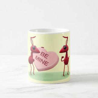Cute Valentines' Day Ants Basic White Mug