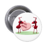Cute Valentines' Day Ants Pinback Button