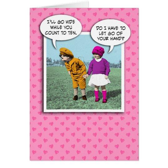 Cute Valentine's Day card: Hide and Seek Card