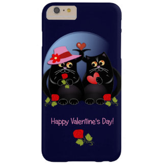 Cute Valentine's day cats with text Barely There iPhone 6 Plus Case