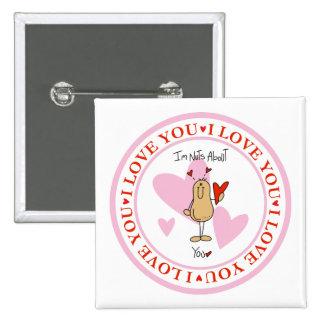 Cute Valentine's Day Gift 15 Cm Square Badge