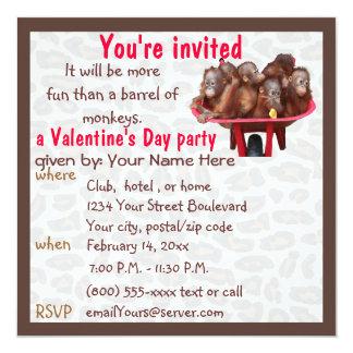 Cute Valentine's Day Party 13 Cm X 13 Cm Square Invitation Card