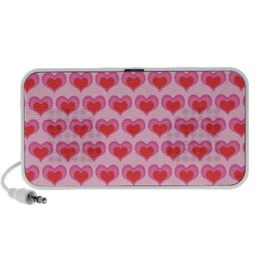 Cute valentines heart doodle spreaker travel speakers