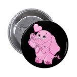 Cute Valentine's Pink Elephant 6 Cm Round Badge