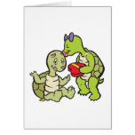 cute valentines turtles greeting card