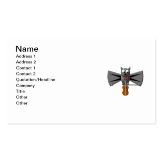 Cute vampire bat playing the violin business card templates
