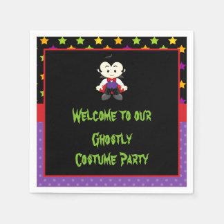 Cute Vampire Boy Halloween Costume Party Paper Napkins