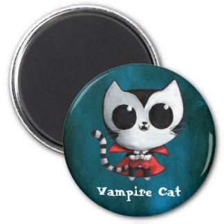 Cute Vampire Cat 6 Cm Round Magnet